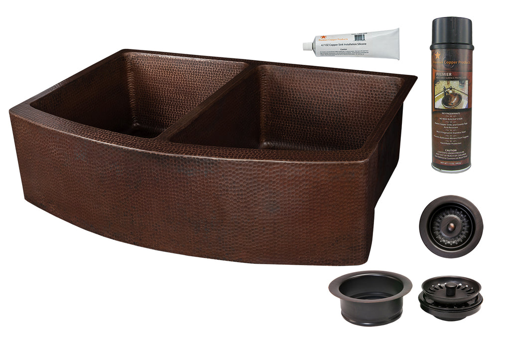Premier Copper Products - KSP3_KA50RDB33249 Kitchen Sink and Drain Package