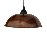 "L100DB - Hand Hammered Copper 10.5"" Dome Pendant Light"