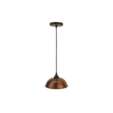"L200DB - Hand Hammered Copper 8.5"" Dome Pendant Light"