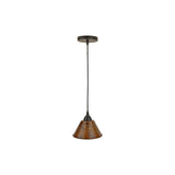 "L300DB - Hand Hammered Copper 7"" Cone Pendant Light"