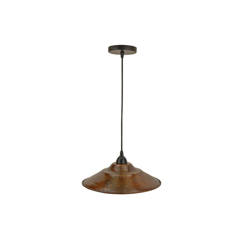 "L400DB - Hand Hammered Copper 13"" Large Pendant Light"