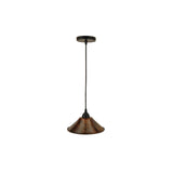 "L500DB - Hand Hammered Copper 9"" Cone Pendant Light"