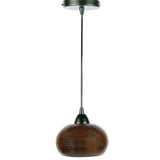 "L600DB - Hand Hammered Copper 7"" Globe Pendant Light"