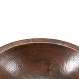 LO17FDB - Small Oval Under Counter Hammered Copper Sink