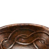 LO19RBDDB - Oval Braid Self Rimming Hammered Copper Sink