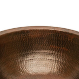 LR17FDB - Round Under Counter Hammered Copper Sink