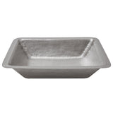 LREC19EN - Rectangle Under Counter Hammered Copper Bathroom Sink in Electroless Nickel
