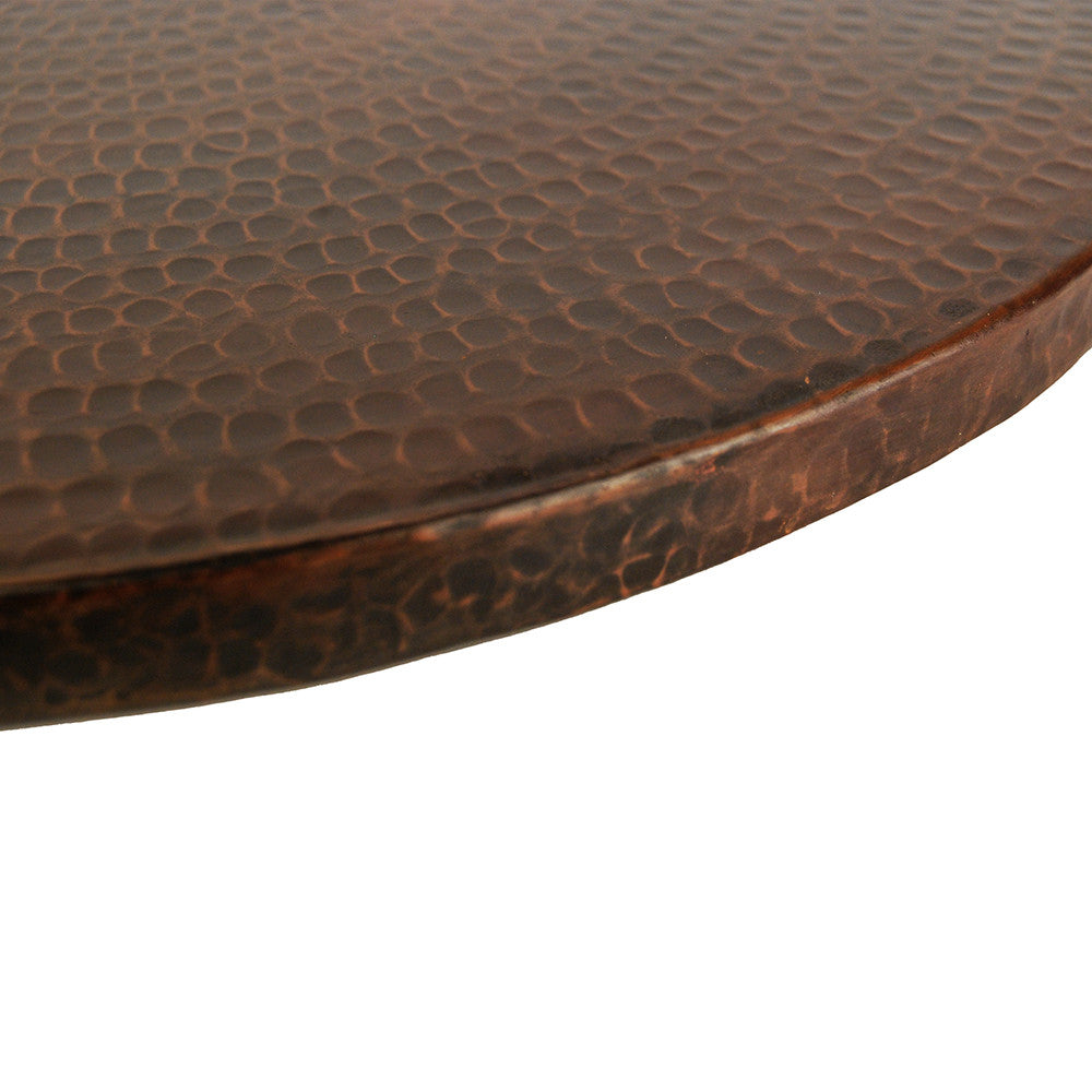 "LS20DB - 20"" Hand Hammered Copper Lazy Susan"