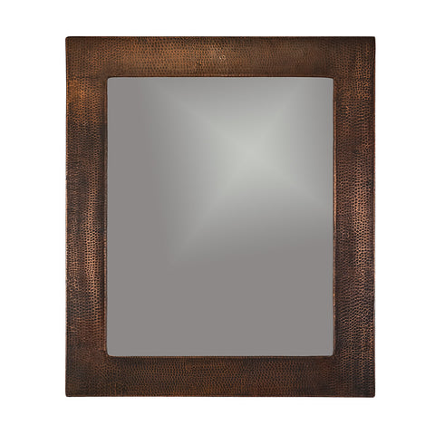 "MFREC3631 - 36"" Hand Hammered Rectangle Copper Mirror"