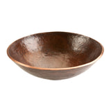 PV16RDB - Round Hand Forged Old World Copper Vessel Sink