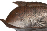 Two Fish Vessel Hammered Copper Sink