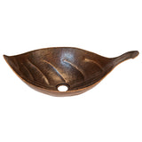 PVLFDB - Leaf Vessel Hammered Copper Sink