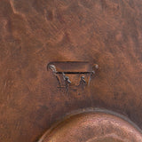 PVMPDB - Round Hand Forged Old World Miners Pan Copper Vessel Sink