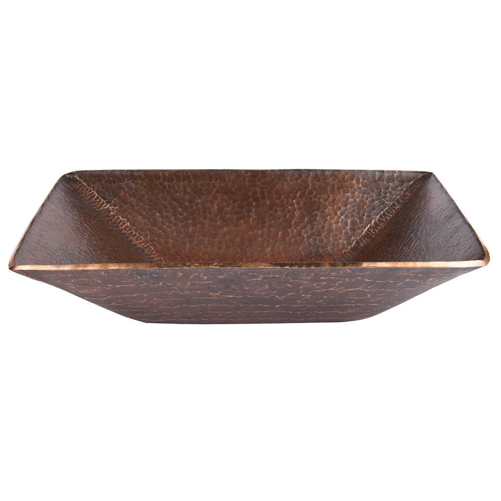 PVMRECDB - Modern Rectangle Hand Forged Old World Copper Vessel Sink