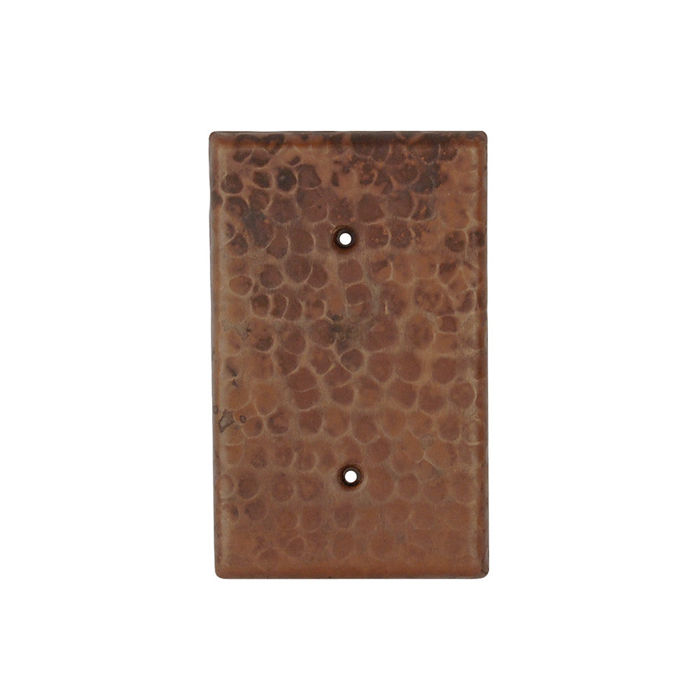 SB1 - Blank Hand Hammered Copper Switch Plate Cover - Two Hole