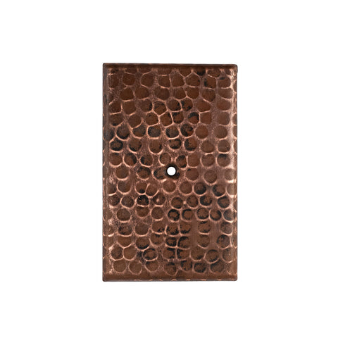 SB2 - Blank Hand Hammered Copper Switch Plate Cover - Single Hole