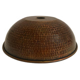 "Hand Hammered Copper 10.5"" Dome Pendant Light Shade"