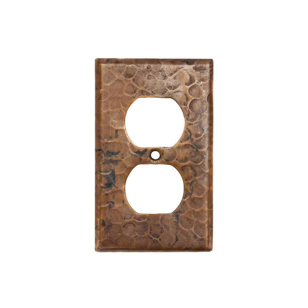 SO2_PKG4 - Copper Switch Plate Single Duplex, 2 Hole Outlet Cover - Quantity 4