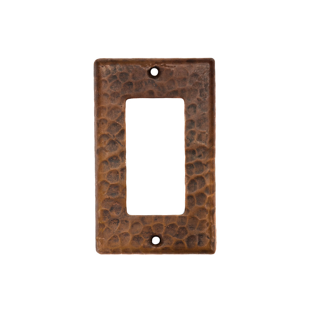 SR1_PKG2 - Copper Single Ground Fault/Rocker GFI Switch Plate Cover - Quantity 2