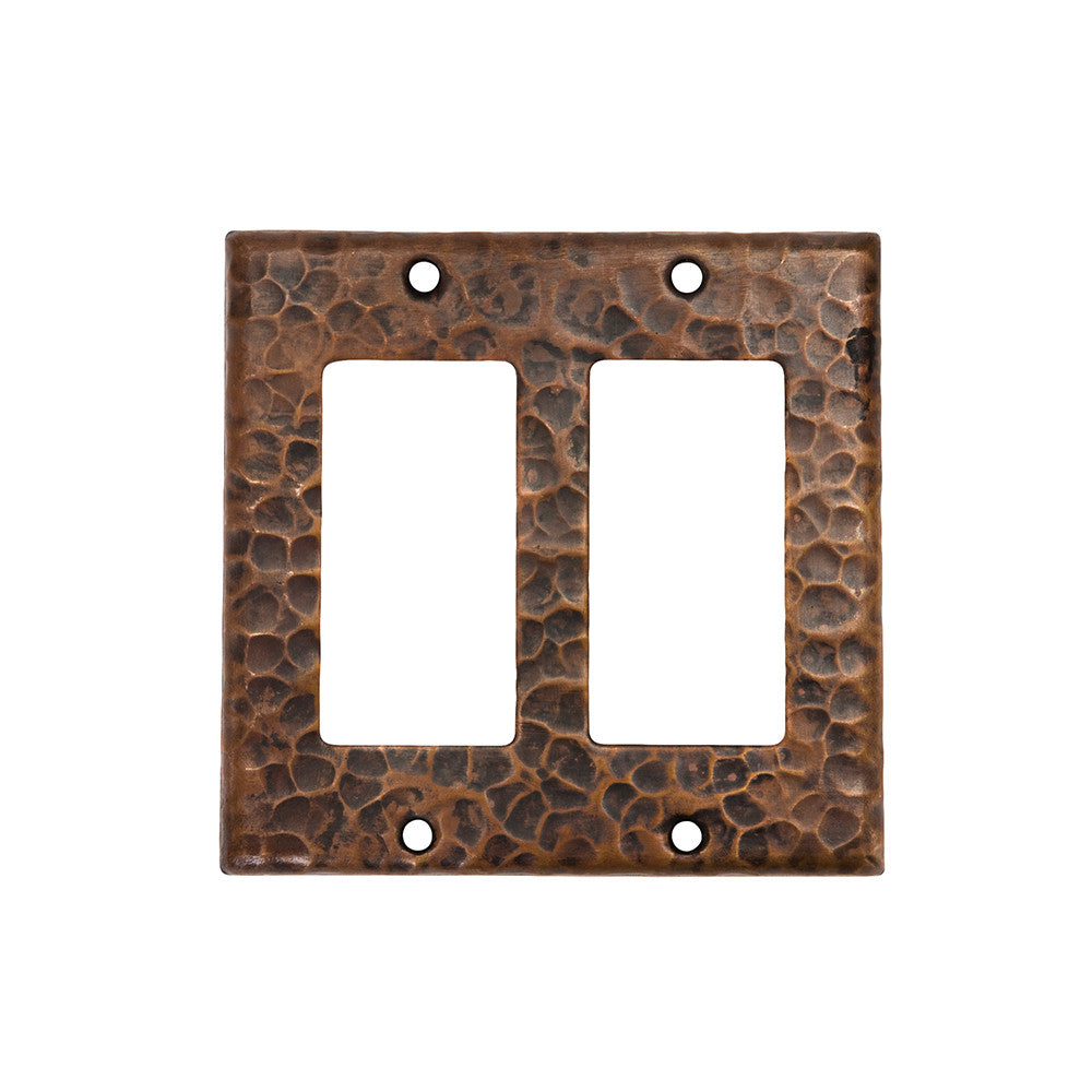 SR2 - Copper Double Ground Fault/Rocker GFI Switchplate Cover