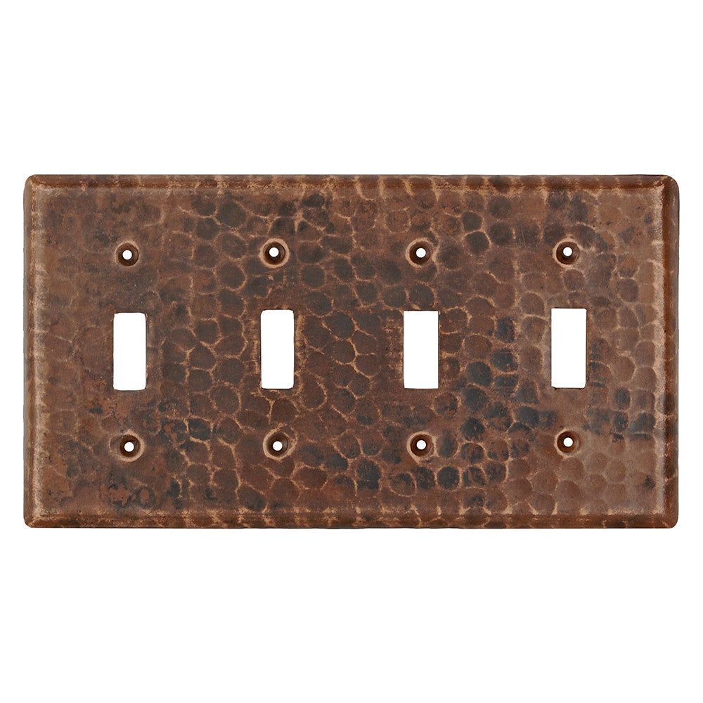 ST4 - Copper Switchplate Quadruple Toggle Switch Cover