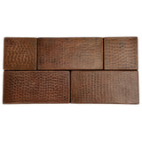 "T36DBH - 3"" x 6"" Hammered Copper Tile"