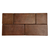 "T3DBH - 3"" x 3"" Hammered Copper Tile"