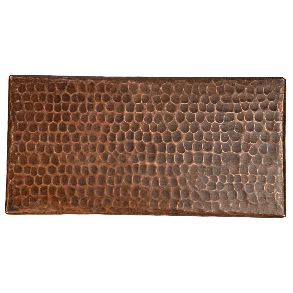 "T48DBH - 4"" x 8"" Hammered Copper Tile"