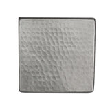 "T4NH - 4"" x 4"" Nickel Plated Hammered Copper Tile"