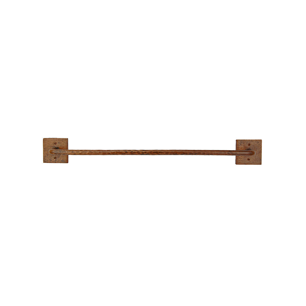 "TR18DB - 18"" Hand Hammered Copper Towel Bar"