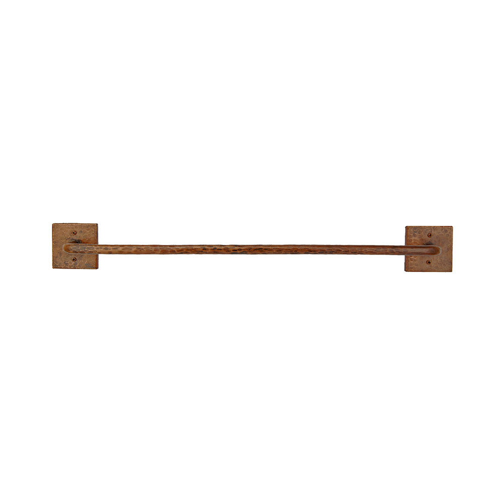 "TR24DB - 24"" Hand Hammered Copper Towel Bar"