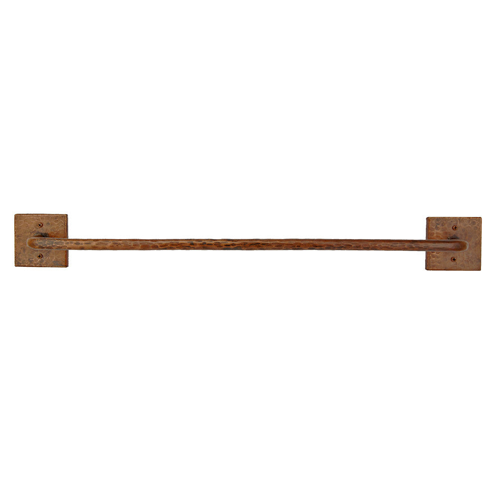 "TR30DB - 30"" Hand Hammered Copper Towel Bar"
