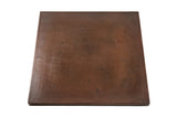 "30"" Square Hammered Copper Table Top"