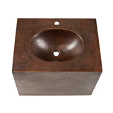 "VADB24181 - 24"" Hand Hammered Copper Wall Mount Vanity with Single Faucet Hole"