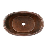 VBT20DB - Bath Tub Vessel Hammered Copper Sink