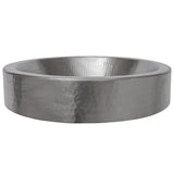 VO18SKEN - Oval Skirted Vessel Hammered Copper Sink in Electroless Nickel