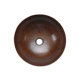 VR13BDB - Small Round Vessel Hammered Copper Sink