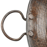 VR16MPDB - Round Miners Pan Vessel Hammered Copper Sink
