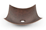 "VREC18MSDB- 18"" Rectangle Modern Slope Hammered Copper Sink"
