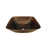 VSQ14BDB - Square Vessel Hammered Copper Sink