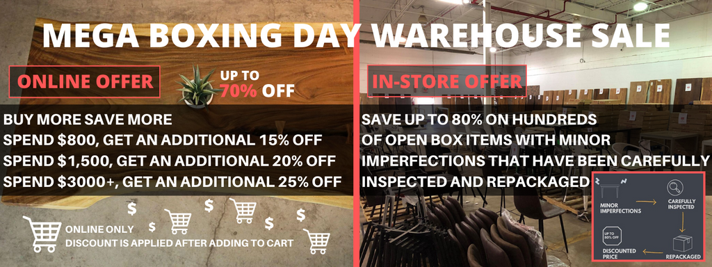 Mega Boxing Day Warehouse Sale On Now Wazo Furniture