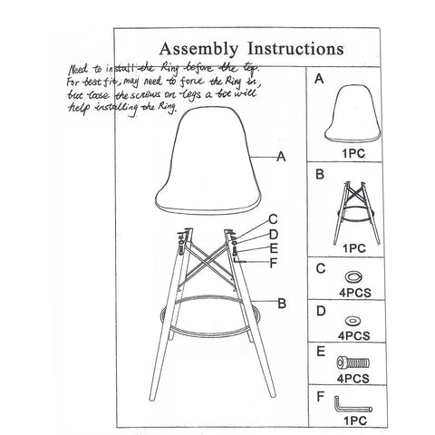 Chair Assembly Instructions: How to Install Your Chairs
