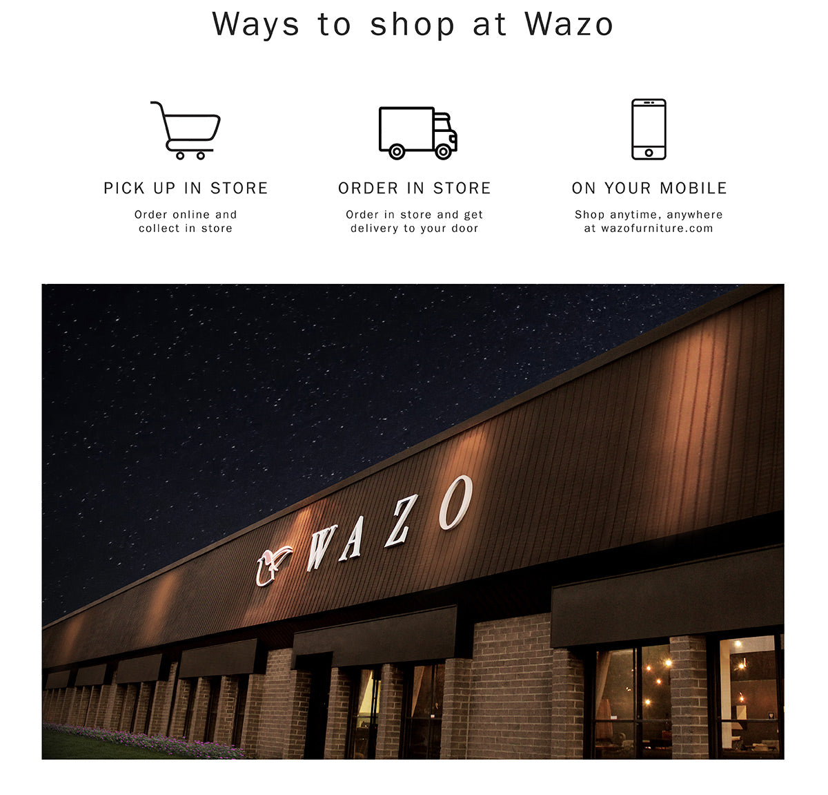 Shop Furniture Online And Offline Shipping Canada Wide Wazo
