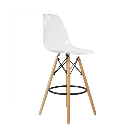 Eames Style Barstool Transparent Seat