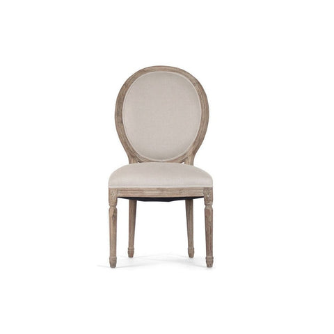 French Louis XVI Style Medallion Side Chair