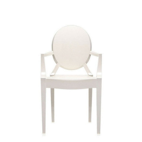 Starck Style Louis Ghost Chair - Solid White