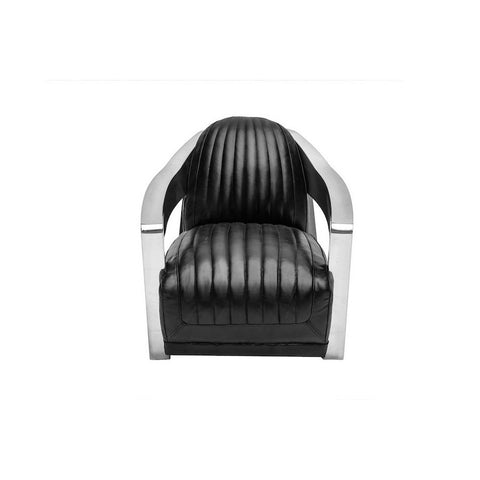 Nikolai Aviator Club Chair 1-Seater Black
