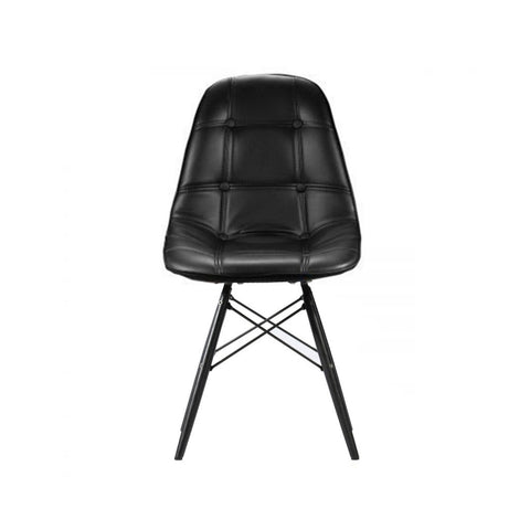 Eames Style Leather Side Chair