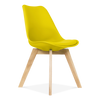 Eames Style Oak Chair with PU Leather