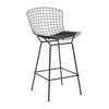 Bertoia Style Wire Bar Stool with Seat Pad